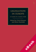 Cover of Legislation in Europe: A Country by Country Guide (eBook)
