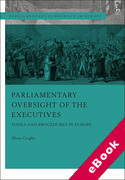 Cover of Parliamentary Oversight of the Executives: Tools and Procedure in Europe (eBook)