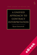 Cover of A Unified Approach to Contract Interpretation (eBook)