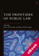 Cover of The Frontiers of Public Law (eBook)