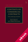 Cover of Contents of Commercial Contracts: Terms Affecting Freedoms (eBook)