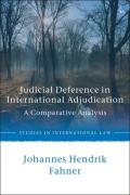 Cover of Judicial Deference in International Courts: A Comparative Analysis