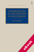Cover of Clawback Law in the Context of Succession (eBook)