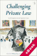 Cover of Challenging Private Law: Lord Sumption on the Supreme Court (eBook)