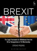 Cover of Brexit: The Legal Framework for Renegotiation, Withdrawal or Association