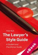 Cover of The Lawyer's Style Guide: A Student and Practitioner Guide (eBook)