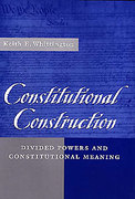Cover of Constitutional Construction