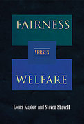 Cover of Fairness Versus Welfare