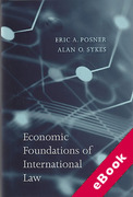 Cover of Economic Foundations of International Law (eBook)