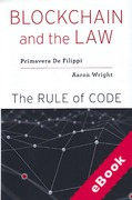 Cover of Blockchain and the Law: The Rule of Code (eBook)