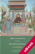 Cover of Boundaries of the International: Law and Empire (eBook)