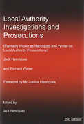 Cover of Local Authority Investigations and Prosecutions