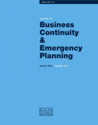 Cover of Journal of Business Continuity and Emergency Planning: Print + Free Single-User Online Access
