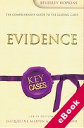 Cover of Key Cases: Evidence (eBook)