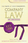 Cover of Key Cases: Company Law 2007-2008