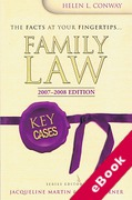Cover of Key Cases: Family Law 2007 - 2008 (eBook)