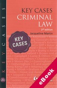 Cover of Key Cases: Criminal Law  (eBook)