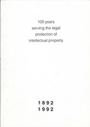 Cover of 100 Years Serving the Legal Protection of Intellectual Property
