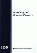Cover of IDS: Disciplinary and Grievance Procedures