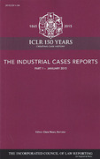 Cover of The Industrial Cases Reports: Parts and Bound Volume