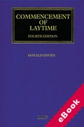 Cover of Commencement of Laytime (eBook)