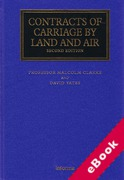 Cover of Contracts of Carriage by Land and Air (eBook)