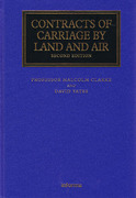 Cover of Contracts of Carriage by Land and Air
