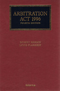 Cover of Arbitration Act 1996