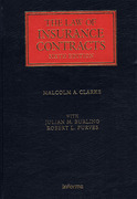 Cover of The Law of Insurance Contracts
