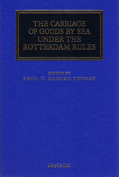 international trade and carriage of goods maritime and transport law library