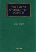 Cover of The Law of Construction Disputes