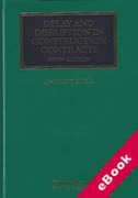 Cover of Delay and Disruption in Construction Contracts (eBook)