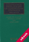 Cover of Construction Insurance and UK Construction Contracts (eBook)