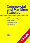 Cover of Commercial and Maritime Law Statutes (eBook)