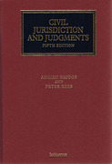Cover of Civil Jurisdiction and Judgments 5th ed