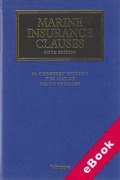 Cover of Marine Insurance Clauses (eBook)