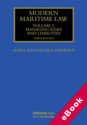 Cover of Modern Maritime Law Volume II: Managing Risks and Liabilities (eBook)