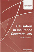 Cover of Causation in Insurance Contract Law