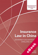 Cover of Insurance Law in China (eBook)