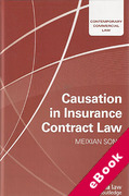 Cover of Causation in Insurance Contract Law (eBook)