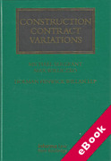 Cover of Construction Contract Variations (eBook)