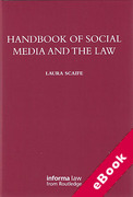Cover of Handbook of Social Media and the Law (eBook)