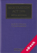 Cover of Arbitration Act 1996 (eBook)