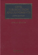 Cover of Civil Jurisdiction and Judgments