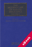 Cover of The Modern Law of Marine Insurance: Volume 4 (eBook)