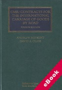 Cover of CMR Contracts for the International Carriage of Goods by Road (eBook)