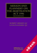 Cover of Merkin and Flannery on the Arbitration Act 1996 (eBook)