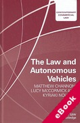 Cover of The Law and Autonomous Vehicles (eBook)