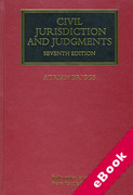 Cover of Civil Jurisdiction and Judgments (eBook)