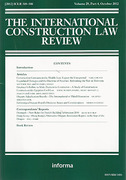 Cover of The International Construction Law Review: Print + Online